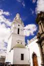 Church of santo domingo in quito ecuador Royalty Free Stock Photography