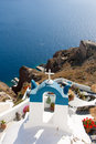 Church in Santorini Greece Stock Photography