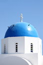 Church in santorini greece typical dome island Stock Photos