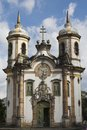 Church of Sao Francisco de Assis Ouro Preto Royalty Free Stock Photos
