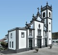 Church at sao miguel island the biggest of the azores archipelago wich is a group of vulcanic islands located in the middle Stock Photos
