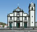 Church at sao miguel island the biggest of the azores archipelago wich is a group of vulcanic islands located in the middle Royalty Free Stock Images