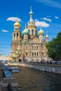 Church of the Savior on Blood Stock Images