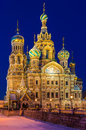 Church of the savior on blood in st petersburg at night Royalty Free Stock Images