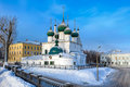 Church of the Savior on the city Spasa na gorodu, Yaroslavl Royalty Free Stock Photo