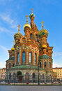 Church of savior on spilled blood the cathedral the resurrection christ morning in st petersburg russia Royalty Free Stock Photos