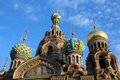 The church of the savior on spilled blood is one main sights st petersburg russia Stock Photo