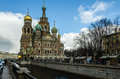 Church of the savior on spilled blood in saint petersburg city Royalty Free Stock Photo