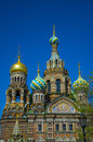 The church of savior on spilled blood st petersburg Stock Photos