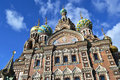 Church of the savior on spilled blood st petersburg russia Royalty Free Stock Photography