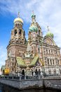Church of the savior on spilled blood st petersburg russia may people are walking by built in griboedov canal Royalty Free Stock Photos
