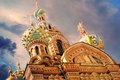 Church of the Saviour on Spilled Blood or Cathedral of the Resurrection of Christ at sunset, St. Petersburg, Russia Royalty Free Stock Photo