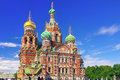 Church of the Saviour on Spilled Blood,Petersburg Royalty Free Stock Photography