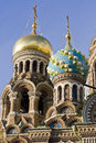 Church of the saviour on spilled blood st petersburg russia Royalty Free Stock Images