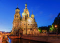 Church of the saviour on spilled blood in st petersburg russia Stock Photo