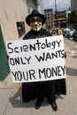 Church of Scientology protest Stock Image