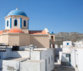Church of serifos on the greek islands of cyclades architecture island buildings with her typical blue doors and white houses here Stock Photo