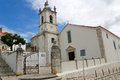 Church in sesimbra of santiago the center of portugal Royalty Free Stock Photography
