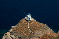 The church of the seven martyrs on sifnos cyclades island Stock Photos