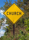 Church Sign Royalty Free Stock Photo