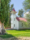 Church in a small northern california town picturesque rural Royalty Free Stock Photo