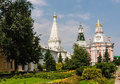 Church of the Smolensk Icon of the Mother of God, a temple in honor of St. Zosima and Savvatiy of Solovki and Caliche tower. Holy Royalty Free Stock Photo