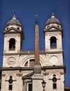 Church Spanish Steps Obelisk Rom Royalty Free Stock Photo