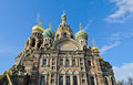 Church of spilled blood the savior on in st petersburg russia Stock Images