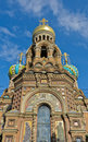 Church of spilled blood the savior on in st petersburg russia Royalty Free Stock Photography