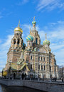 Church of spilled blood the savior on in st petersburg russia photo taken on may Royalty Free Stock Photography