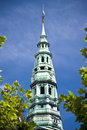 Church spire in copenhagen denmark Royalty Free Stock Images