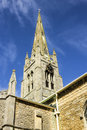 Church spire st mary s in whittlesey cambridgeshire england Royalty Free Stock Photo
