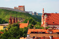 Church of St. Anne and Gediminas Tower in Vilnius, Lithuania Royalty Free Stock Photo