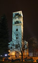 Church of st antun – clock tower sahat kula in bihac bosnia and herzegovina Royalty Free Stock Images