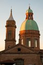 Church of st bartholomew bologna dome the italy Royalty Free Stock Photo