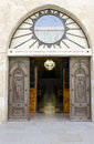 The church of st catherine entrance to in bethlehem Royalty Free Stock Image