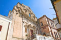 Church of st domenico castellaneta puglia italy perspective Royalty Free Stock Photography