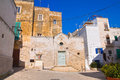 Church of st giovanni monopoli puglia italy perspective the Royalty Free Stock Photos