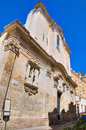 Church of st giuseppe lecce puglia italy perspective the Royalty Free Stock Image
