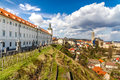 Church of st james and jesuit college kutna hora view czech republic europe Stock Image
