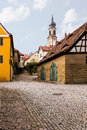 Church st johannis or johannes in castell germany evangelical lutheran of small bavarian village of rises above the old Stock Photography
