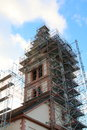 Church st katharina baden baden sandweier under construction renovation Royalty Free Stock Photography