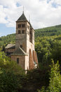 The church of St. Leger in Murbach abbey in France Royalty Free Stock Image