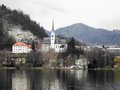 Church of st martin bled slovenia Royalty Free Stock Image