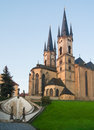 Church st nicholas cheb eger czech republic towers were destroyed wwii recently restored Stock Photography