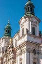 Church of st nicholas in old town square prague Royalty Free Stock Images