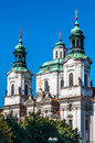 Church of st nicholas in old town square prague czech republic Stock Images