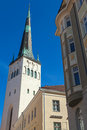Church of st olaf in old town of tallinn estonia Stock Images