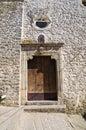 Church of st rocco cancellara basilicata italy detail the Stock Photo