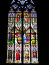 Church stained glass window dom cathedral koln cologne Royalty Free Stock Photos